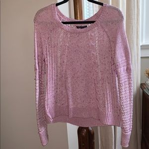 American Eagle Partially Open Back Pink Sweater